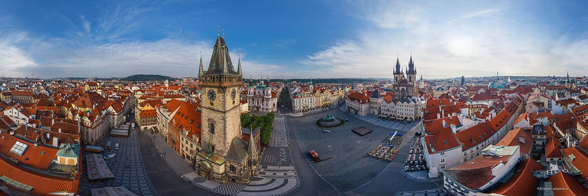 Aerial 360 Panorama Of Prague By Airpano 05