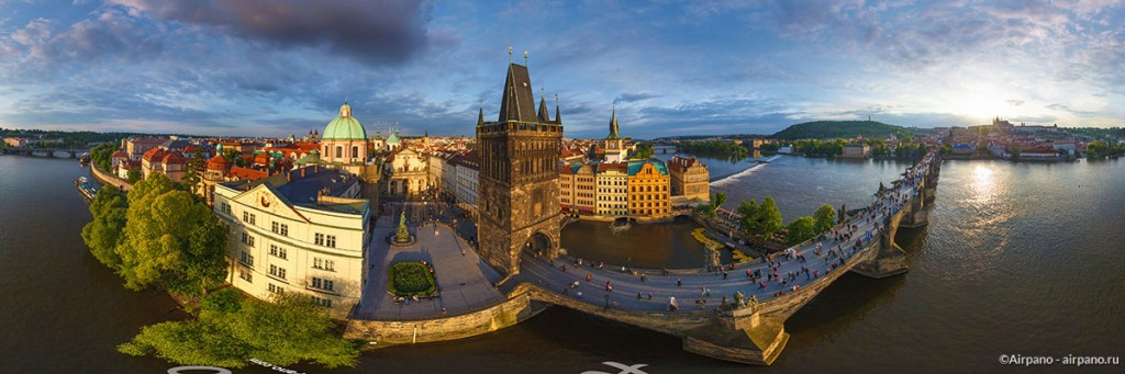 Aerial 360 Panorama Of Prague By Airpano 13