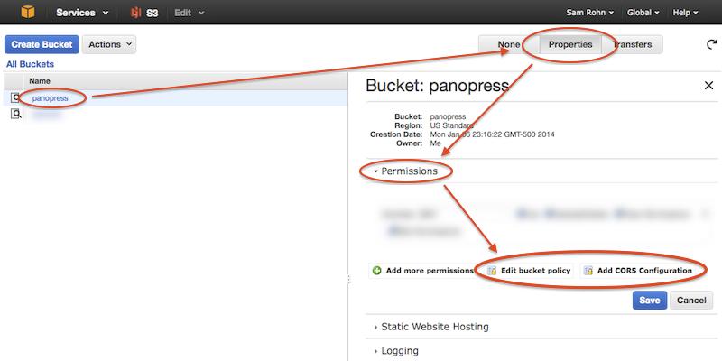 Amazon-s3-panorama-hosting