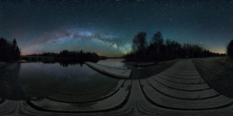 Boat Launch & Eta Aquarid Meteors, Allagash Wilderness Waterway, Maine, USA