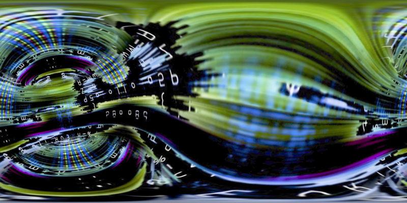 360 VR Digital Graffiti 1001 Stock Video