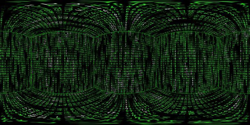 360 VR Matrix 002 Stock Video