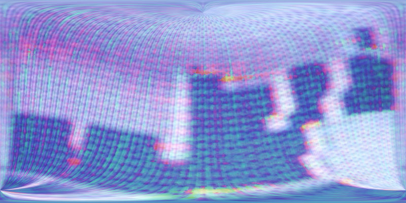 360 VR TV Noise 3602 Stock Video