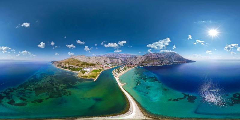 Areal-view---Omiš-beach