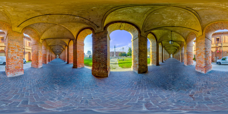 Galleria degli Antichi. Sabbioneta (MN) Italy